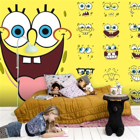 Wallpaper Dinding Kamar Spongebob | 4 wallpaper dinding kamar motif spongebob yang lucu