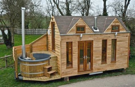 hot house luxury tiny house on wheels with a hot tub tiny house for us