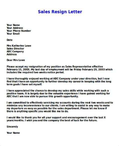 Resignation Letter Sle In Qatar Resign Letter Sle 7 Exles In Word Pdf