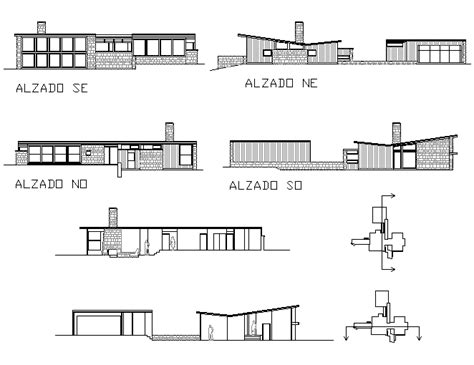 weiss house bloques cad autocad arquitectura download 2d 3d dwg 3ds library