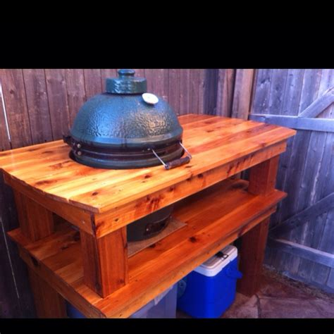 green egg kitchen big green egg in our outdoor kitchen