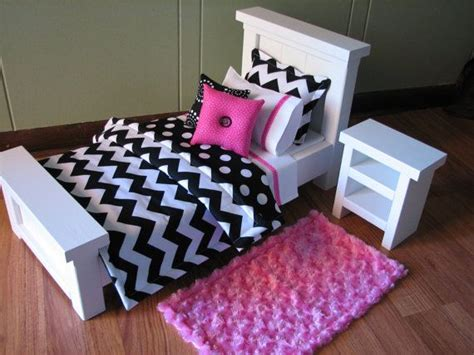 American Doll Bedroom Set by Chevron Bedding Set For American Doll Or Similar 18