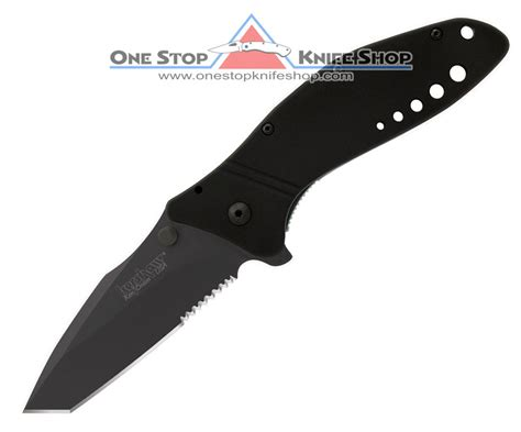 kershaw flip knife quot discontinued kershaw 1630tblkst tanto cyclone black