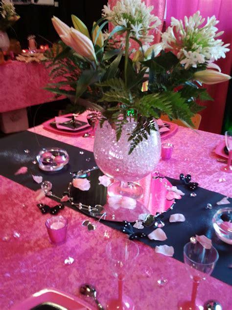 theme rose et noir mariage deco anniversaire rose et noir ginette brunet