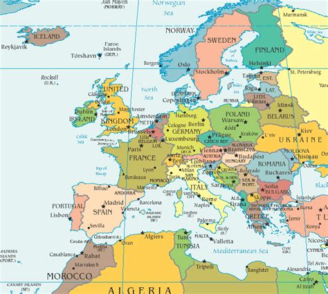 europe map the glavins in europe