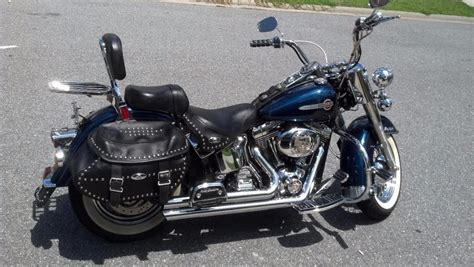 Harley Davidson White Silver 1 harley davidson softail motorcycles for sale in silver maryland