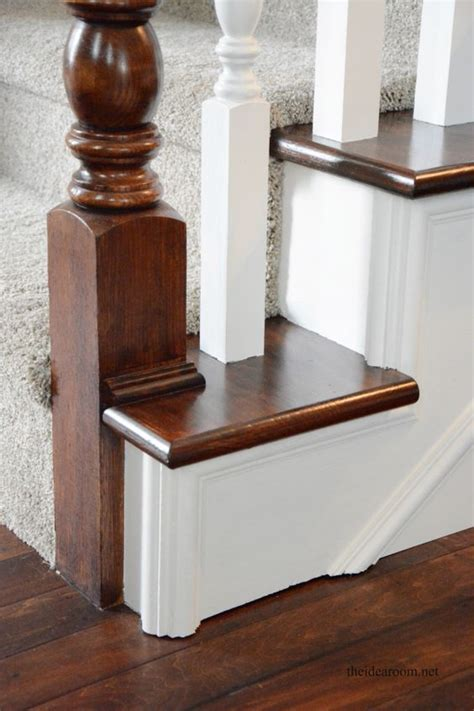 how to restain stair banister how to stain an oak banister stains other and stairs