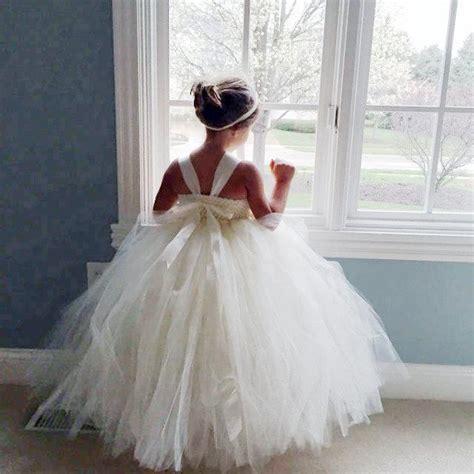 ivory flower girl dress shabby chic flowers dress tulle