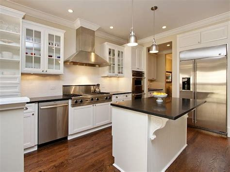 White Kitchen Cabinets Black Granite Countertops Absolute Black Granite Countertops White Cabinets