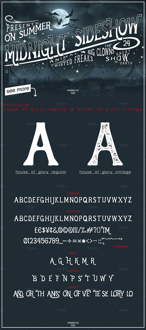 house of glory house of glory display fonts on creative market