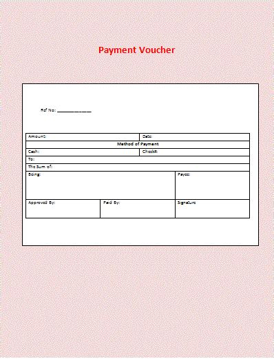 voucher for payment template Can download to your on the