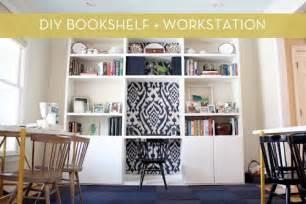 Diy Built In Desk And Bookshelves Diy Bookshelf With Built In Desk 187 Curbly Diy Design Decor