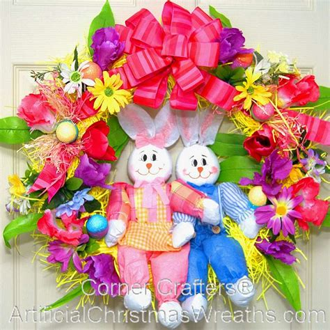easter wreath hippity hoppity easter bunny wreath artificialchristmaswreaths com easter decorations