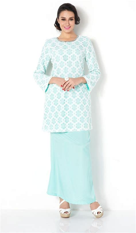 butik firs lady koleksi pakaian first lady mix floral lace plain modern baju kurung