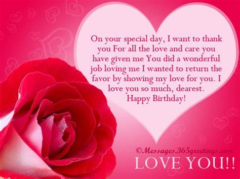 Happy Birthday Wishes In For Lover Love Birthday Messages 365greetings Com