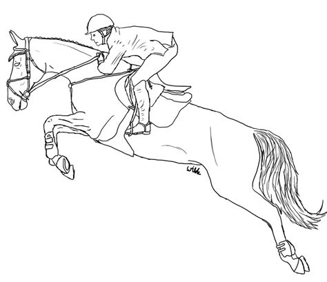 coloring pictures of horses jumping jumping lineart by wildpathz on deviantart