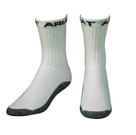 mens socks for boots ariat s work boot crew sock 3 pack horseloverz