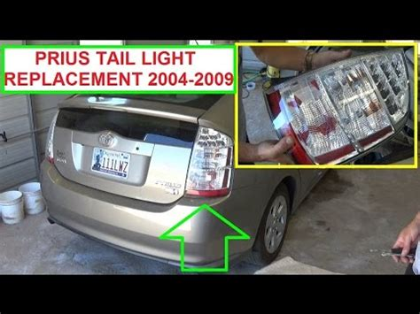 2004 toyota prius brake light bulb 2010 2012 toyota prius rear light installation
