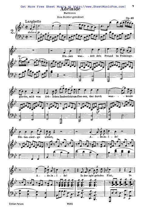 ludwig van beethoven music free sheet music for adelaide op 46 beethoven ludwig