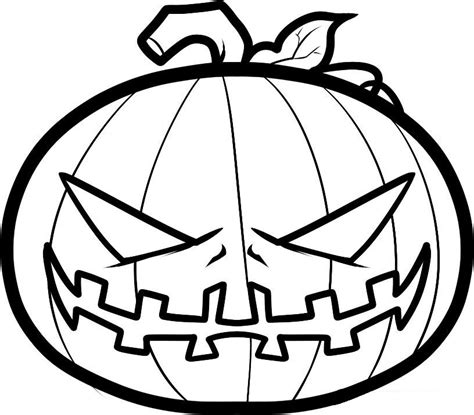 spooky pumpkin coloring pages scary pumpkin coloring pages coloringstar