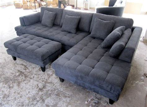 3pc new modern grey microfiber sectional