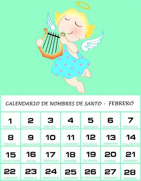 Calendario De Los Santos Calendario De Los Nombres De Santos De Febrero El Nombre