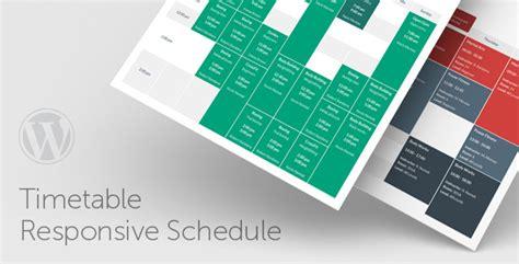 design html timetable wordpress timetable responsive schedule for wordpress