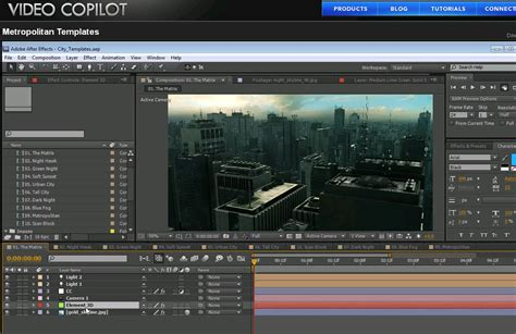 templates after effects video copilot metropolitan city templates digital production