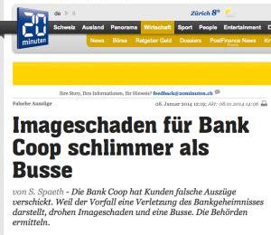 bank coop ag software fehler bei der bank coop die beh 246 rden ermitteln