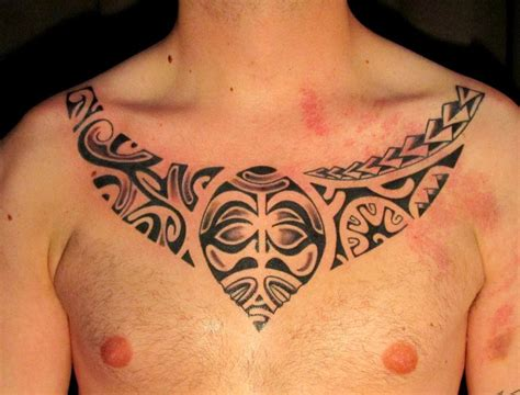 tribal collar tattoo maori tattoos