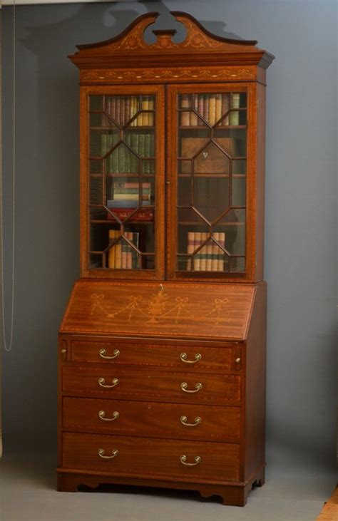 edwardian bureau bookcase antiques atlas