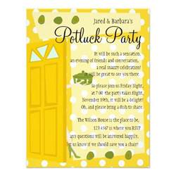 potluck 4 25x5 5 paper invitation card zazzle