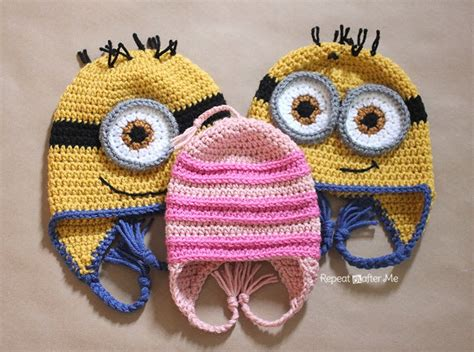 pattern crochet minion hat repeat crafter me crochet edith inspired hat pattern