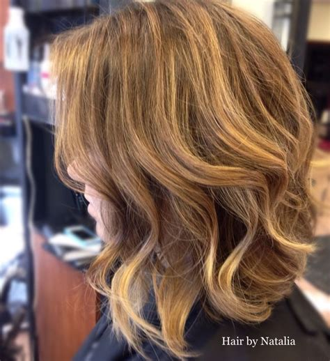 by natalia denver co vereinigte staaten balayage ombre hair color sunkissed balayage highlights on mid length bob very soft