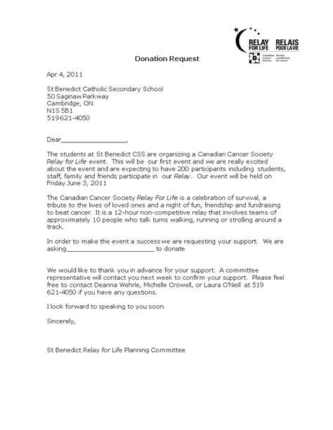 sample donation request letter school templates