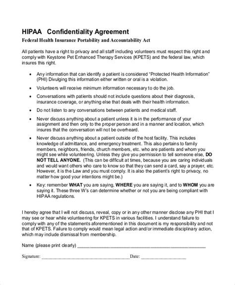 hipaa confidentiality agreement template hipaa form hipaa acknowledgement form hipaa