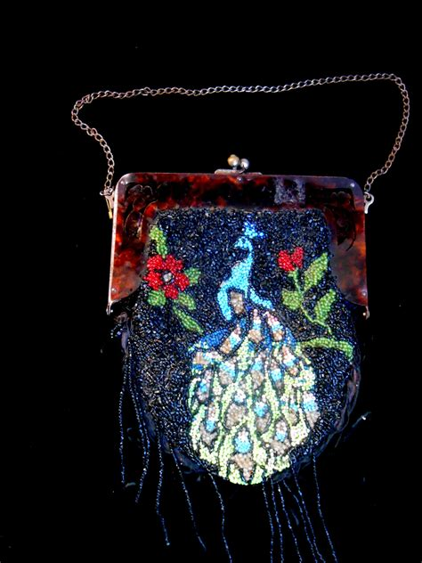 1920s beaded purse 1920s vintage beaded peacock purse with