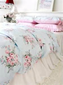 Shabby chic blue rose pink gingham 4pc bedding set queen review