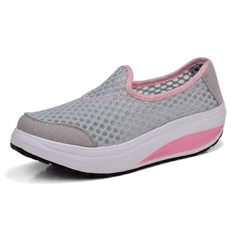 Sepatu Casual Wanita Sneakers Wanita Bcl184 sepatu slip on platform wanita size 38 gray jakartanotebook