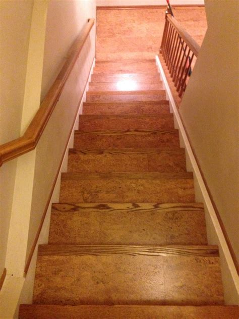 put cork floor on stairs pictures to pin on pinterest