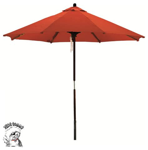 Phat Tommy Deluxe Sunline Red Orange 9 Foot Market Orange Patio Umbrella