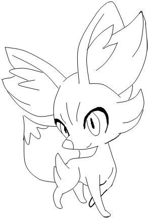 pokemon coloring pages fennekin fennekin lineart by rinkagamine11 on deviantart