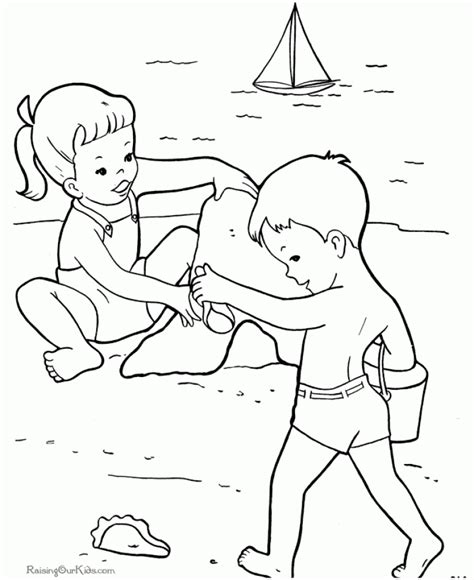 beach coloring pages  print gdnb