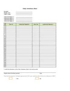 Daily Attendance Record Template by Daily Attendance Template Selimtd