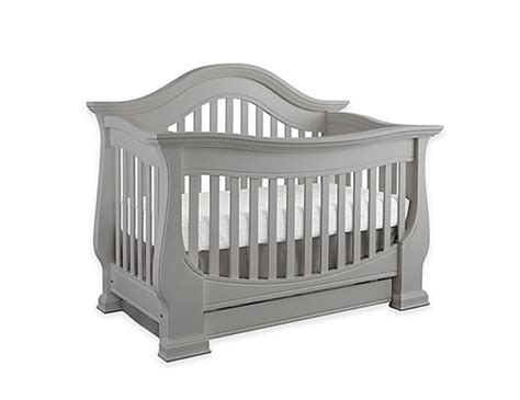 Baby Appleseed Davenport Convertible Crib In Moon Grey Angeles Baby Cribs