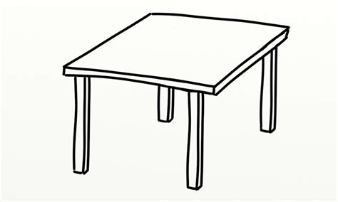 Colouring Desk by Table Outline Clipart Best