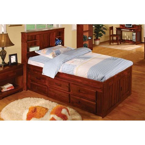 twin captains bed with 6 drawers merlot captains twin bed with 6 drawers