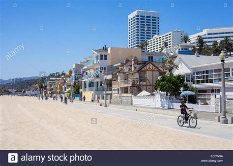 buy house santa monica santa monica beach houses along the boardwalk santa monica stock photo royalty free
