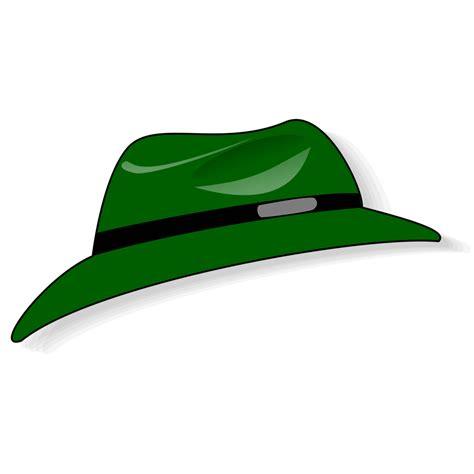 hat free stock photo illustration of a green cartoon