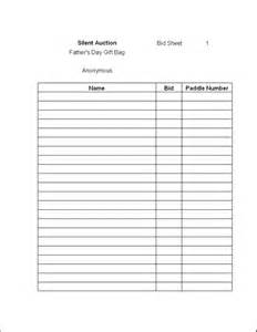 bid sheet template silent auction bid sheet template new calendar template site
